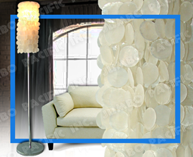 Natural white Capiz design for floor lamp shade